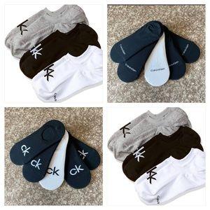 (5) Calvin Klein Logo Men's Shoe-Liner Socks